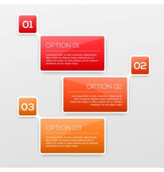 abstract 3d infographics vector image