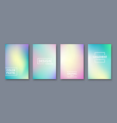 abstract pastel color template for presentation vector image
