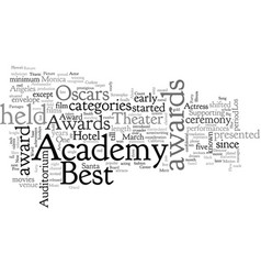 Academy awards vector