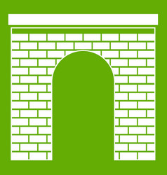 arch icon green vector image