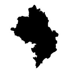 Artsakh nagorno karabakh republic map silhouette vector
