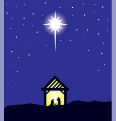 Bethlehem star vector