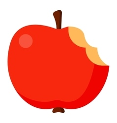 Bitten apple vector image