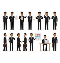 black businessman people characters vector image