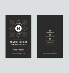 business card vintage ornament style and luxury vector image
