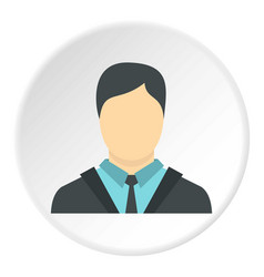 Businessman icon circle vector