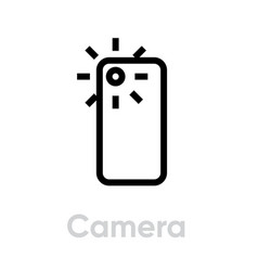 camera phone icon editable line vector image