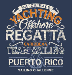 caribbean offshore yacht racing sailing regatta vector image