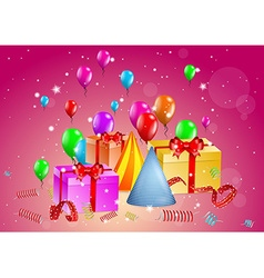 Celebration with presents vector