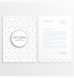 Clean minimal letterhead template vector