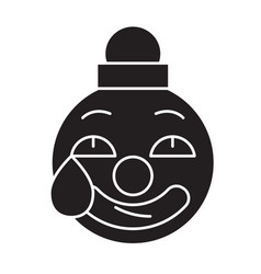 Clown emoji black concept icon emoji vector