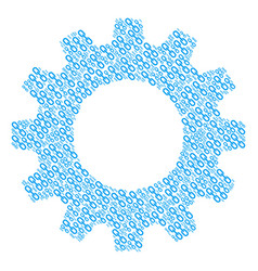 cogwheel composition of chain icons vector image