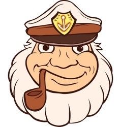 Color Captain Portrait vector image