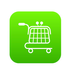 economy trolley icon green vector image
