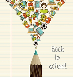 Education icons back to school pencil vector