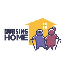 elderly nursing home isolated icon senior people vector image