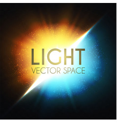 Explosion colorful yellow and blue light vector