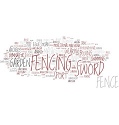 Fencing word cloud concept vector