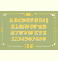 fonts in attractive design vector image
