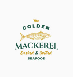 golden mackerel smoked and grilled seafood vector image