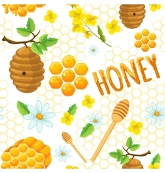 Honey Background Pattern vector image