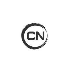 Initial letter cn logo template design vector