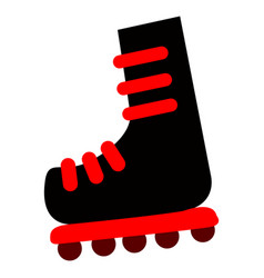 isolated skates icon vector image