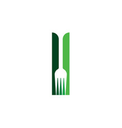 knife and fork logo element icon symbol vector image