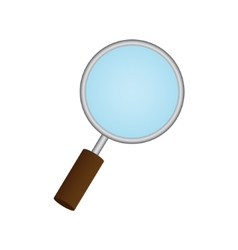 Magnifying Glass on white background Eps 10 vector