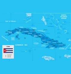 map cuba vector image