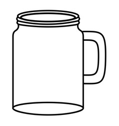 Mason jar glass empty vector