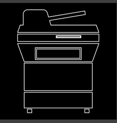 Multifunction printer or automatic copier white vector