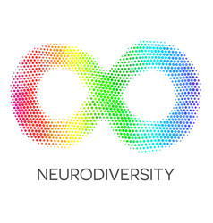 neurodiversity symbol rainbow infinity loop vector image