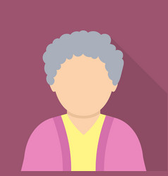 Old woman icon flat style vector