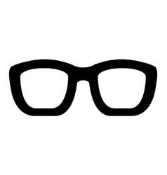 Optical eyeglasses isolated icon vector