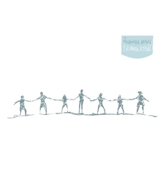 People hold handsspirit togetherness drawn vector