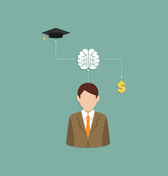 people thinks work or education flat style vector image