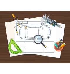 Production Line Element Poster vector