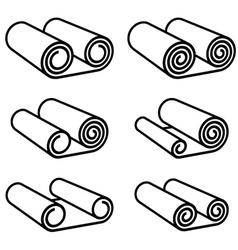 roll of anything black symbol vector image