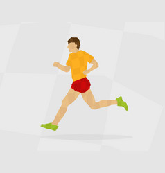 runner polygon vector image