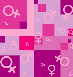 Seamless background with female symbols vector
