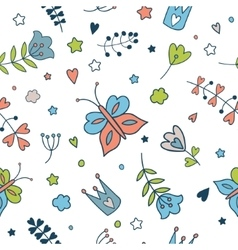 Seamless floral pattern Spring vector