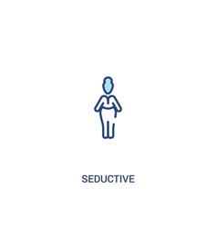 Seductive concept 2 colored icon simple line vector