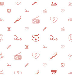 Set icons pattern seamless white background vector