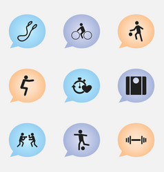 set of 9 editable lifestyle icons includes vector image