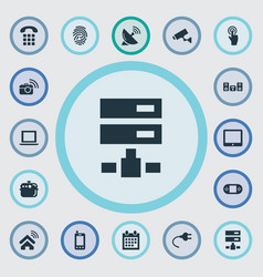 Set of simple smart icons vector