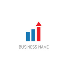 shape graph arrow business company logo vector image
