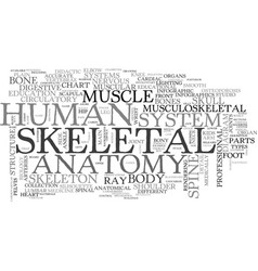 Skeletal word cloud concept vector