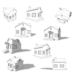Sketch of abstract house vector image