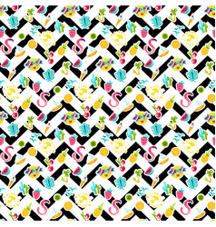 summer color seamless pattern vector image